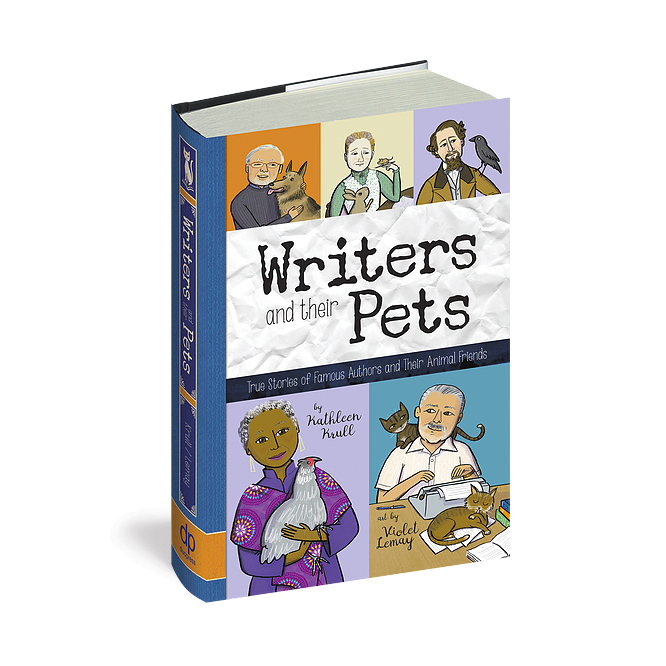 Writers and their Pets - Client: duopressAD: Violet LemayIllustrator: Violet LemayBook Design: Thomas Boucher(Click image for more.)