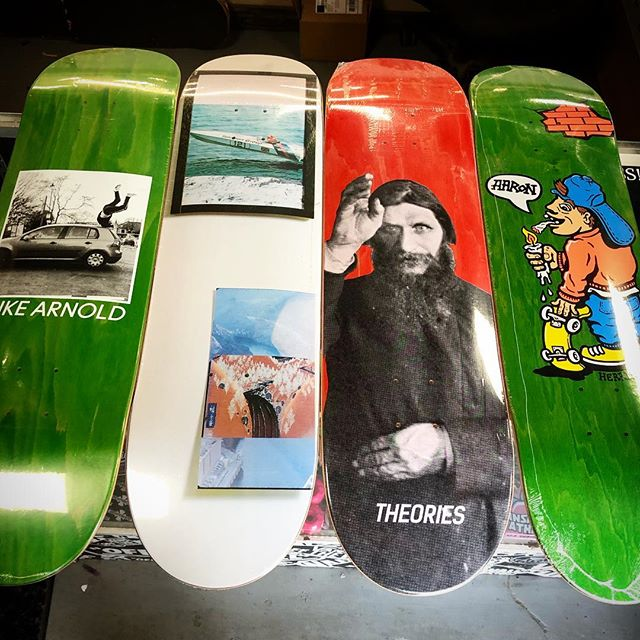 New decks and goods from @theoriesofatlantis guys... New Polar Skate co, Hopps, Theories, Isle, and Evisen #faithskatesupply #