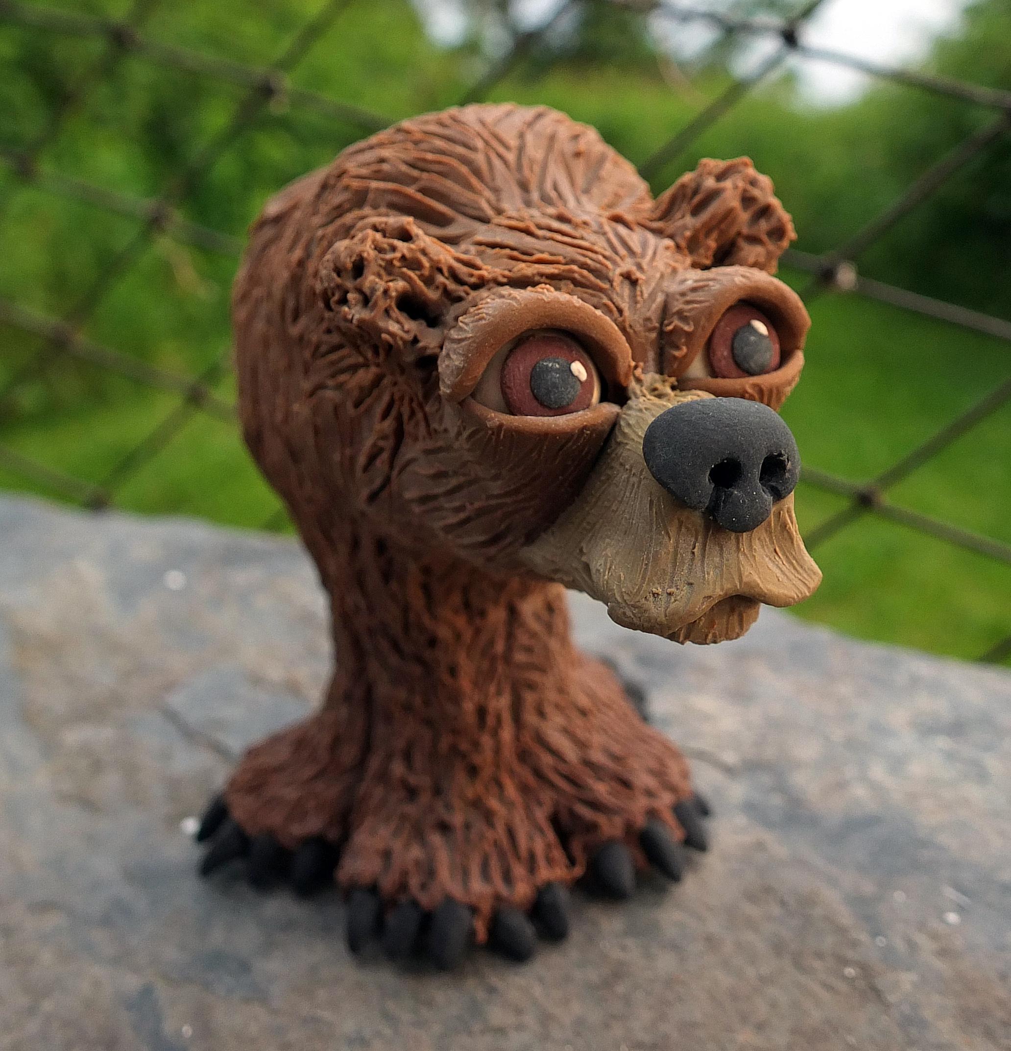 Bear front polymer clay.jpg