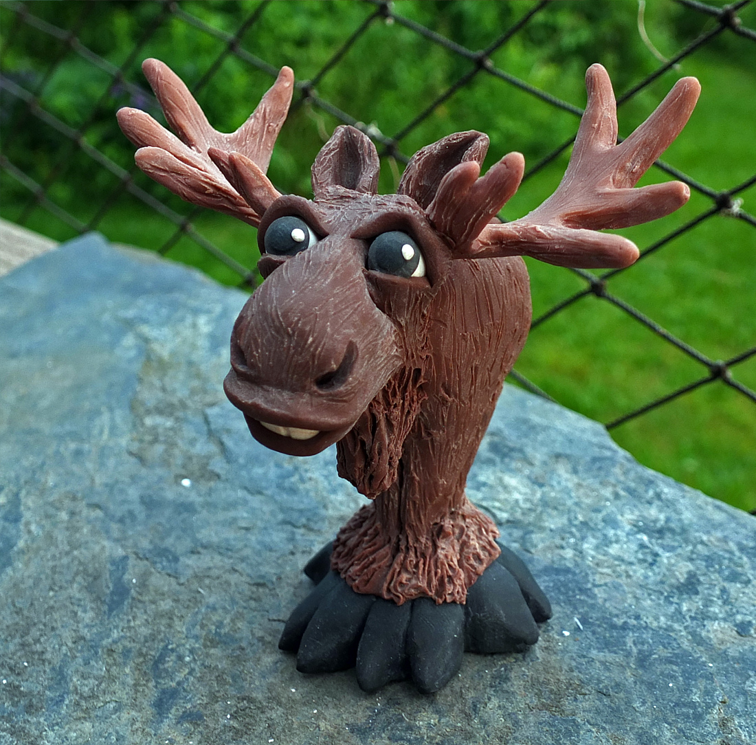 Moose front polymer clay.jpg