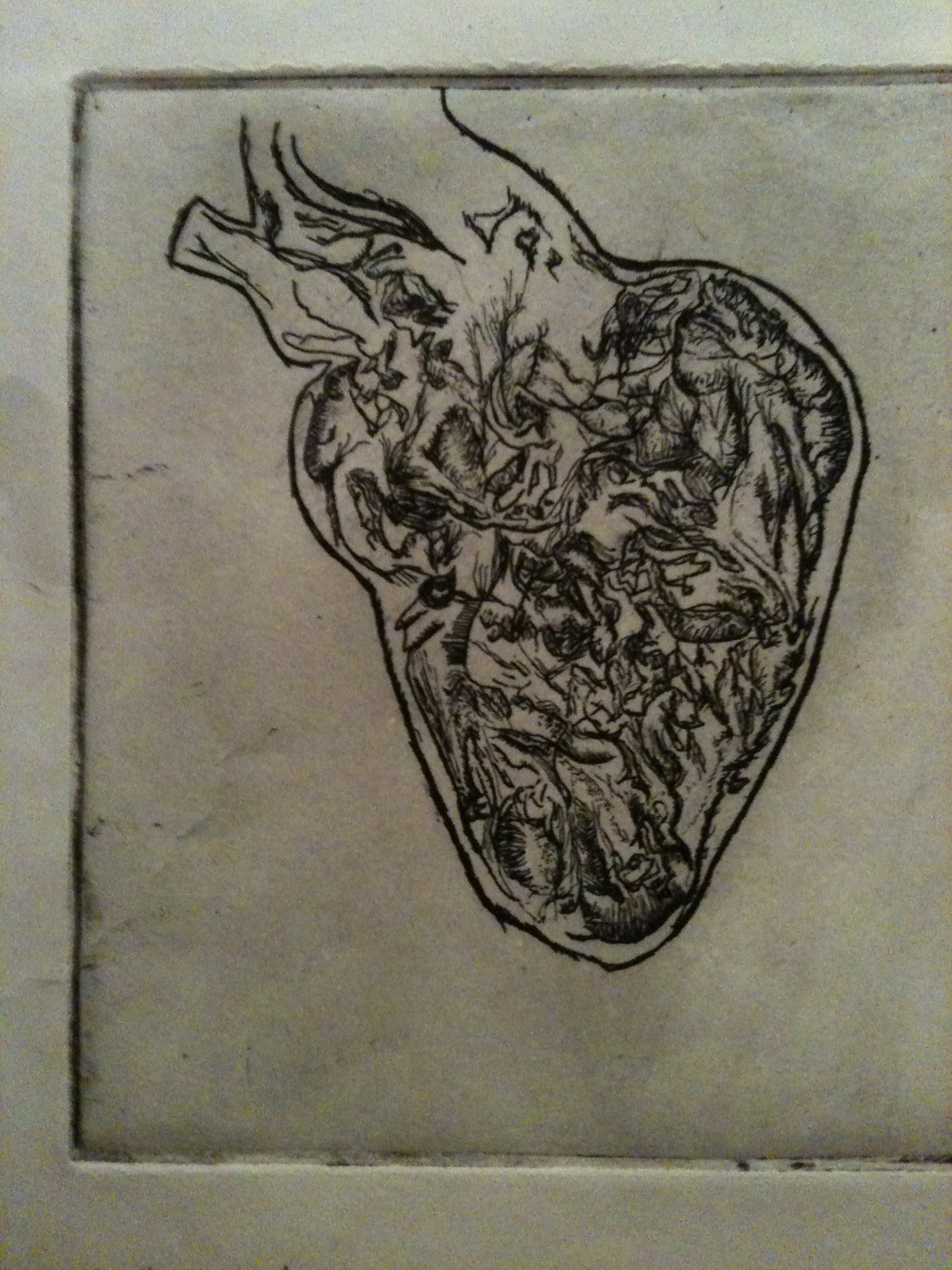 before i made you swallow acid. intaglio