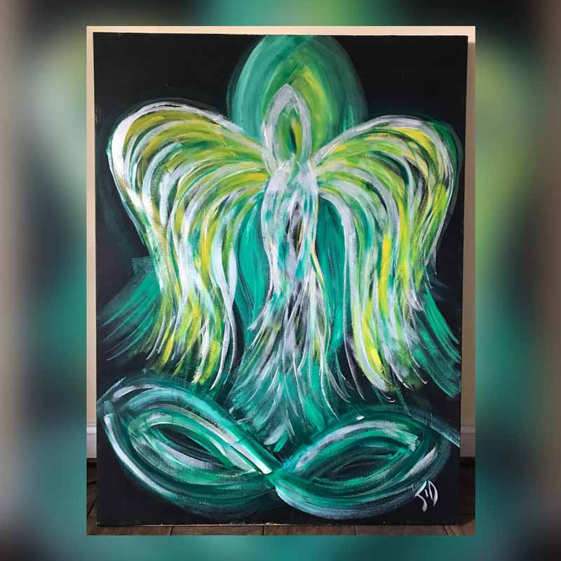 Angel of Healing - Painting measures 48