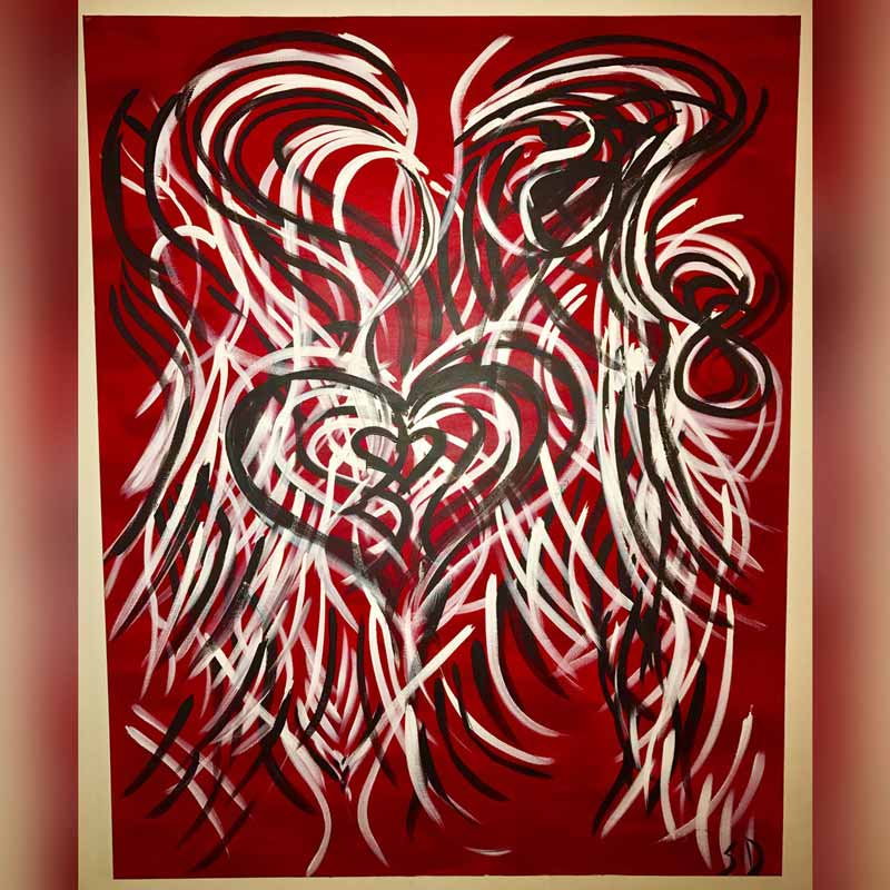 Love Heart! - Painting measures 60
