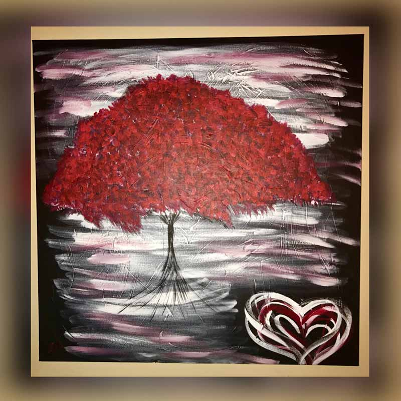 Tree of Love - Painting measures 36