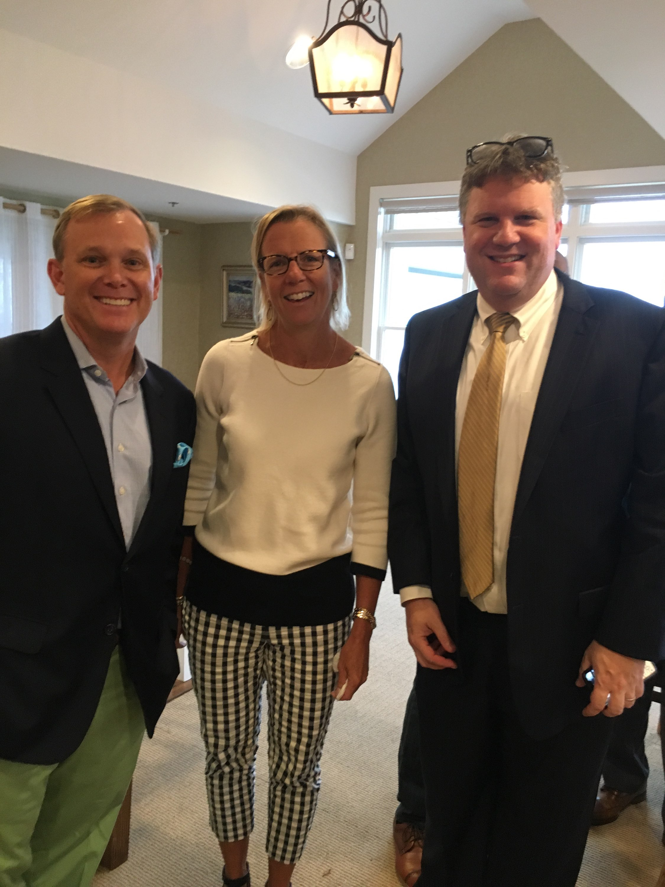 Trey Laird, Whitney Goetz, and Dr. Andrew Gerber