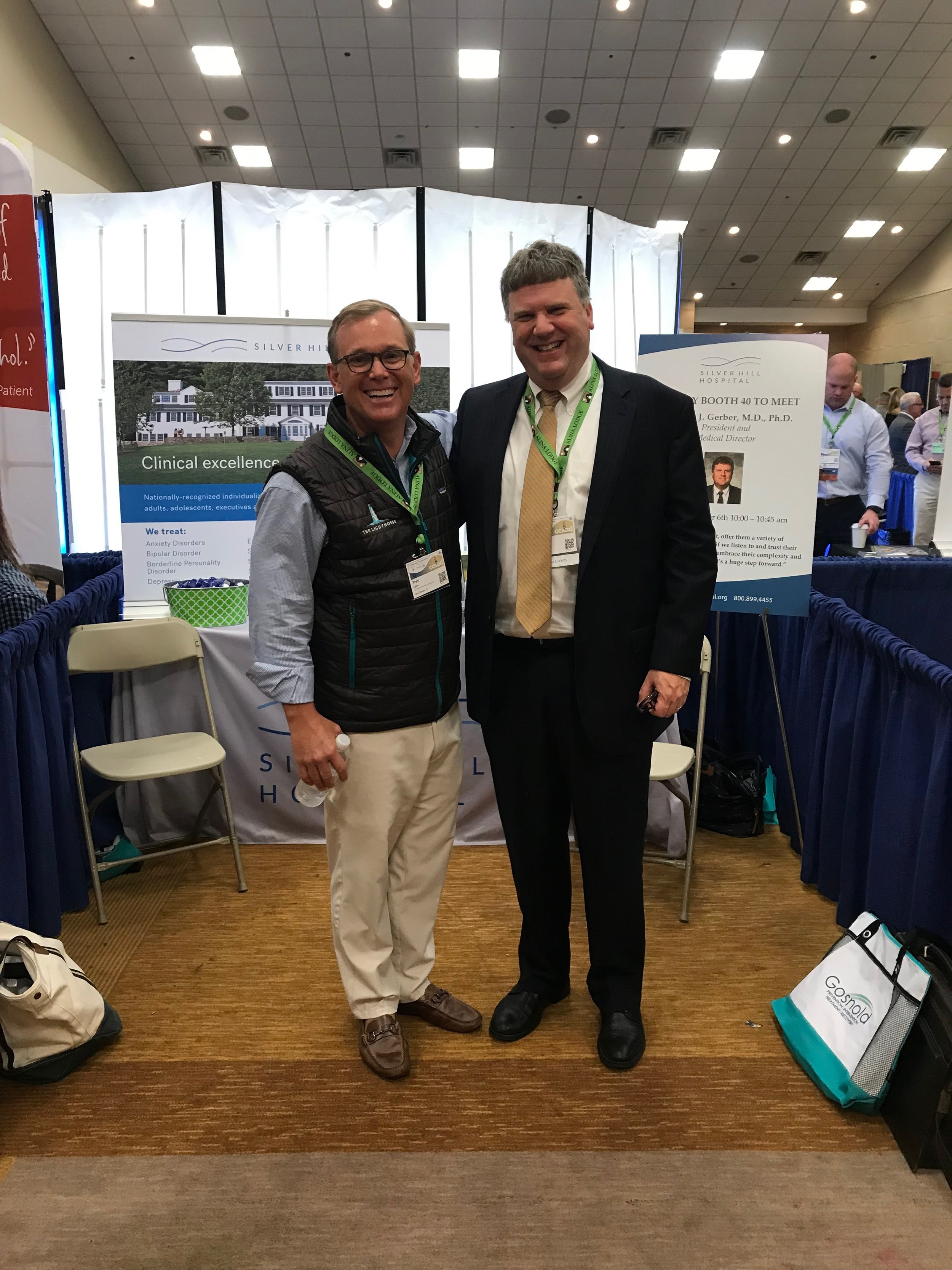 Trey Laird, The Lighthouse and Dr. Andrew Gerber, Medical Director and President Silver Hill Hospital.