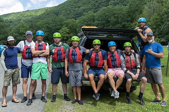 Tim Walsh and The Lighthouse Sober Living Residents Ready for the white water
