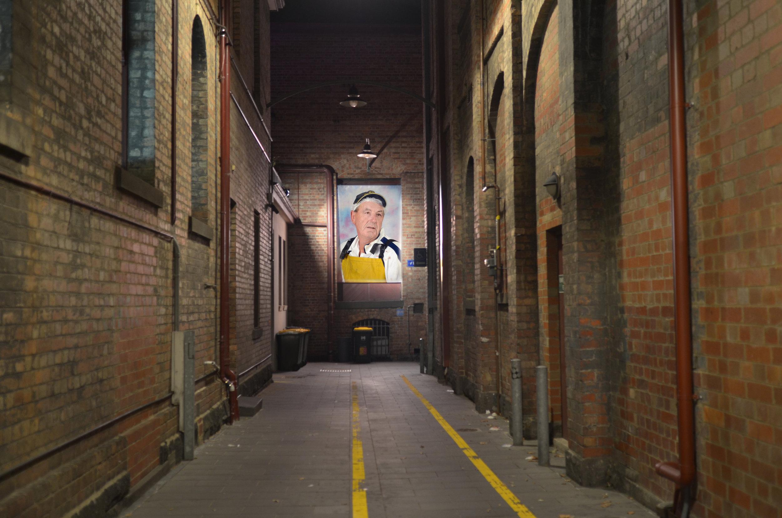 Abattoir Cleaner , Arts House Lane, North Melbourne