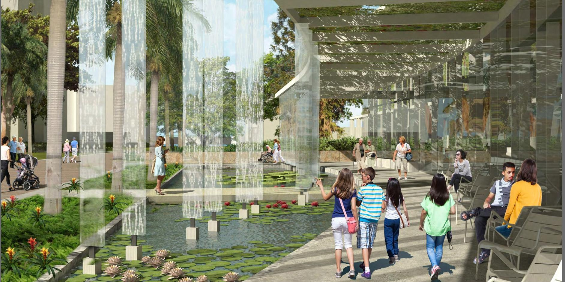 Rendering for Marie Selby Botanical Gardens at OLIN