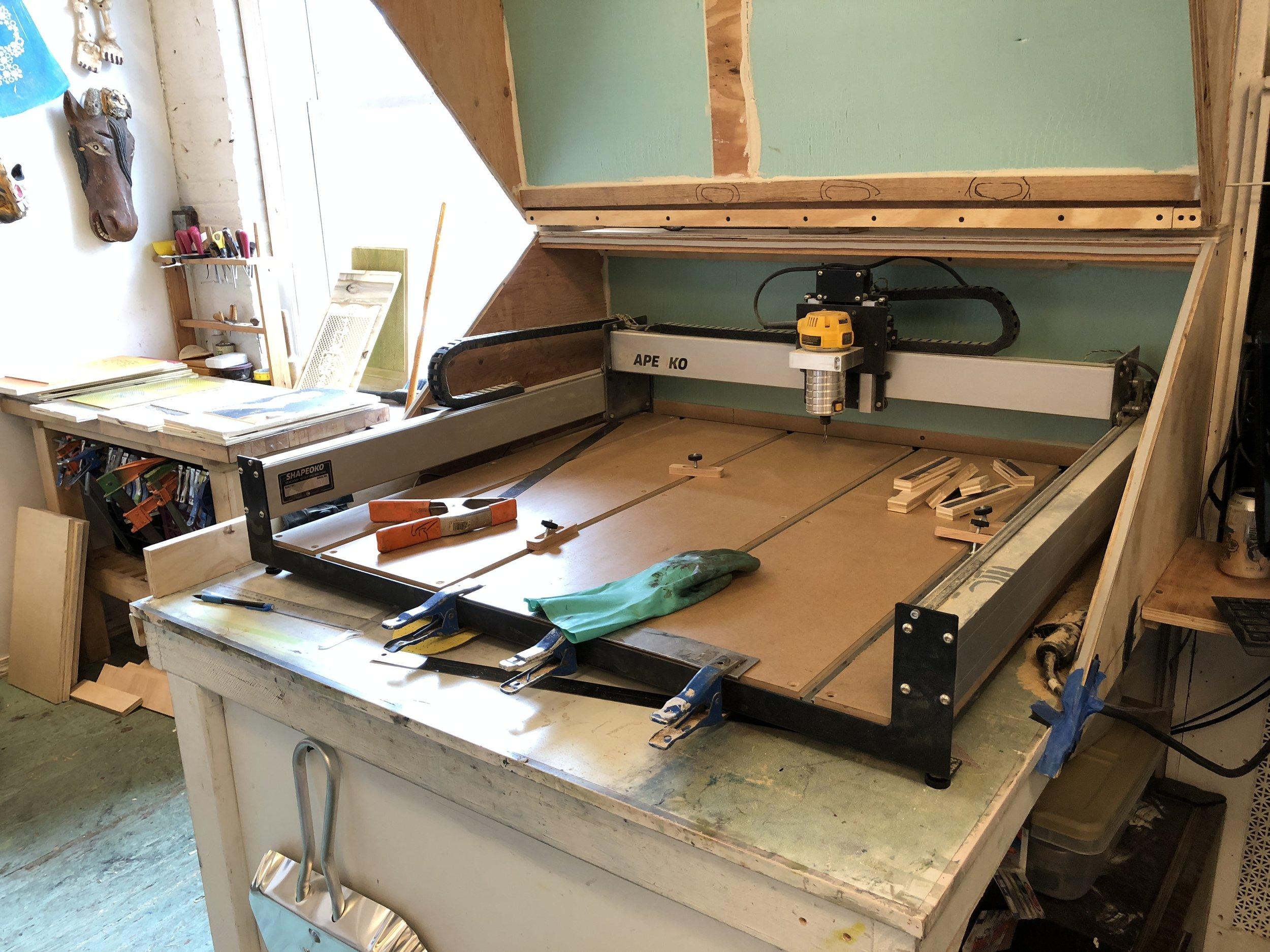 Alexis's new studio mate. Precision cutting skills