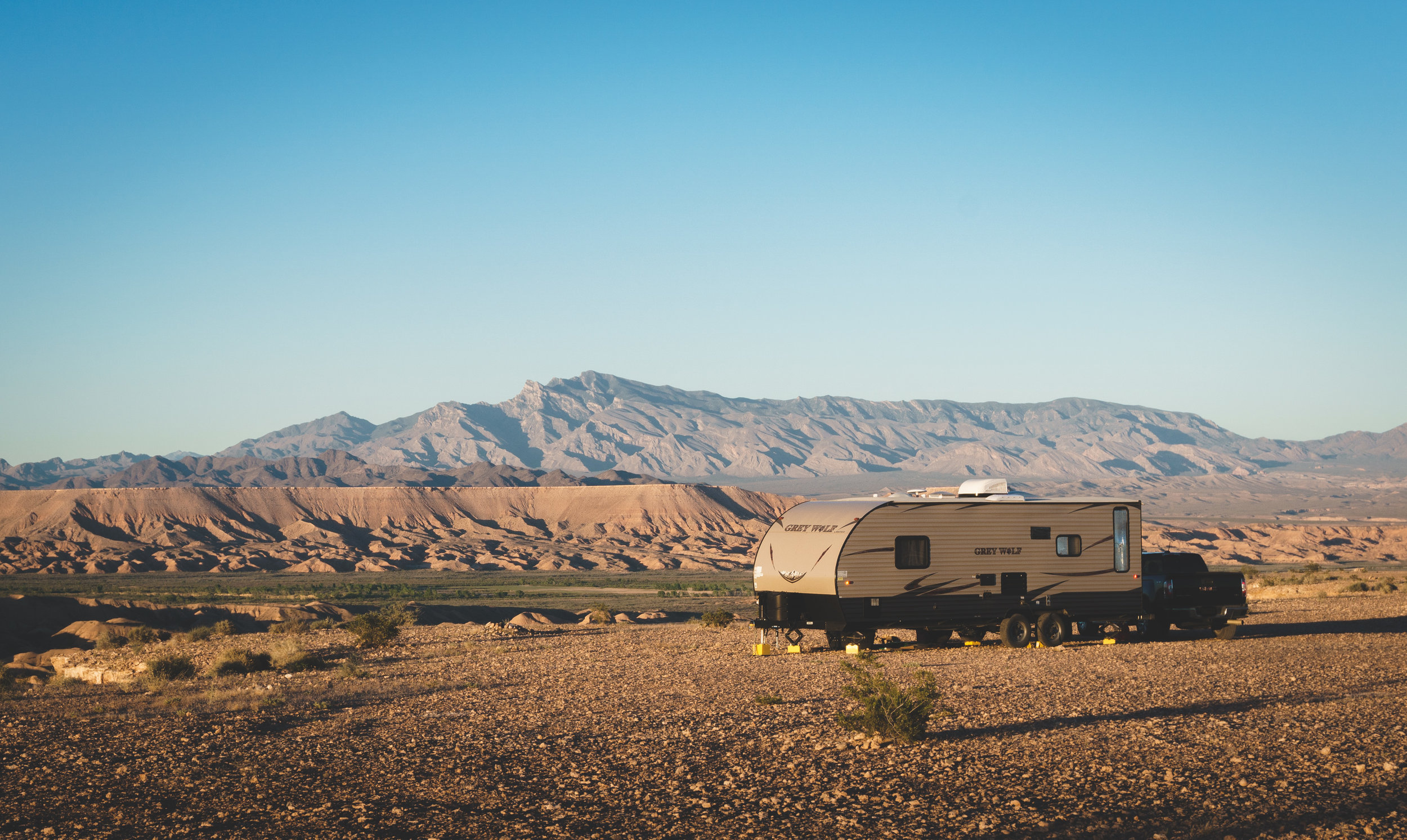A gorgeous boondocking spot about an hour away from Las Vegas, NV. This would have been a great spot to soak up some solar power goodness had we outfitted the trailer with solar panels!