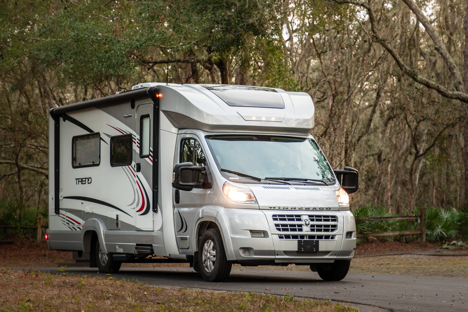 Here is an example of a class C RV, our Winnebago Trend!