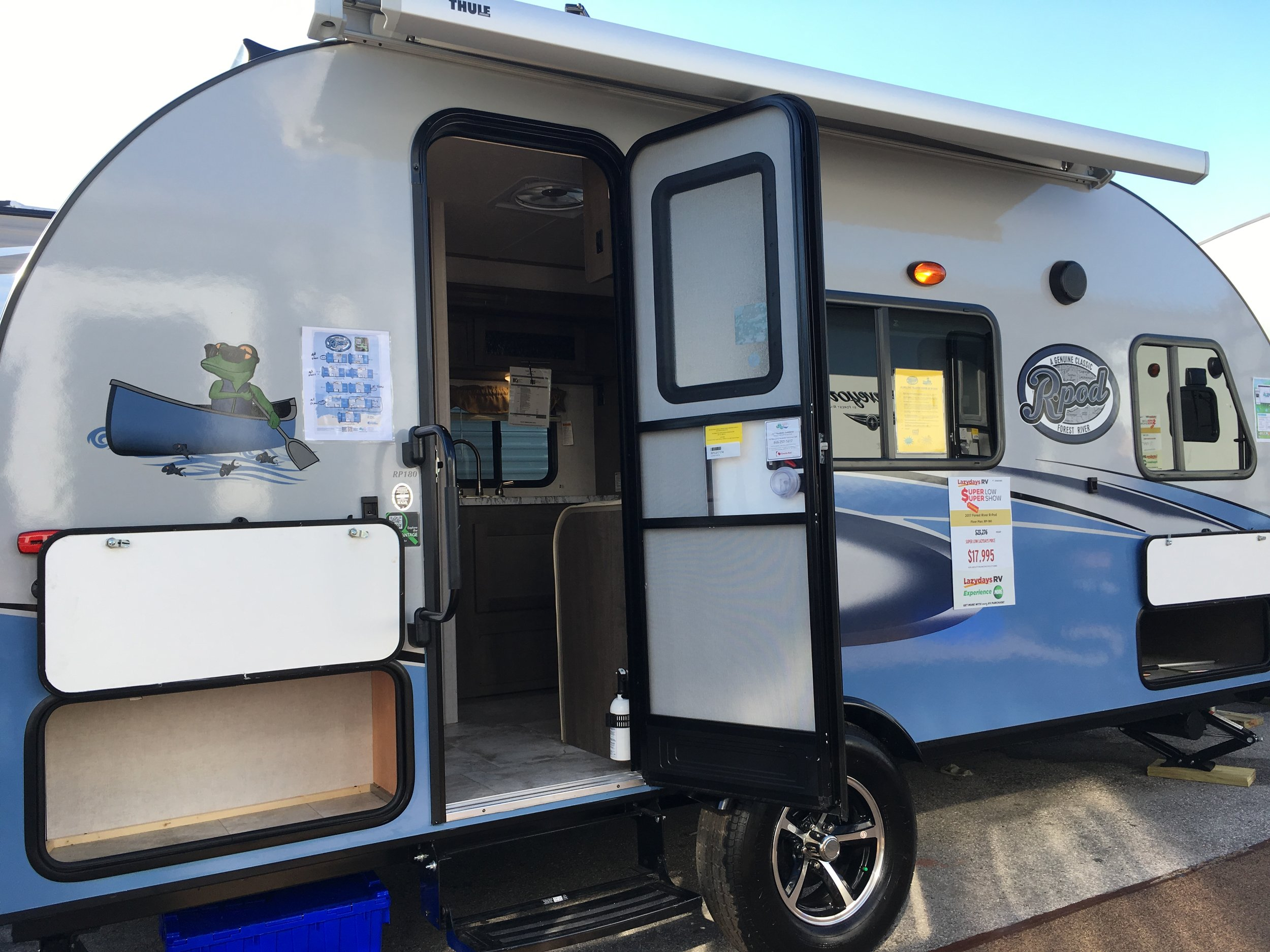Small Travel Trailers like this R-Pod make Travel Trailers an affordable and flexible option.