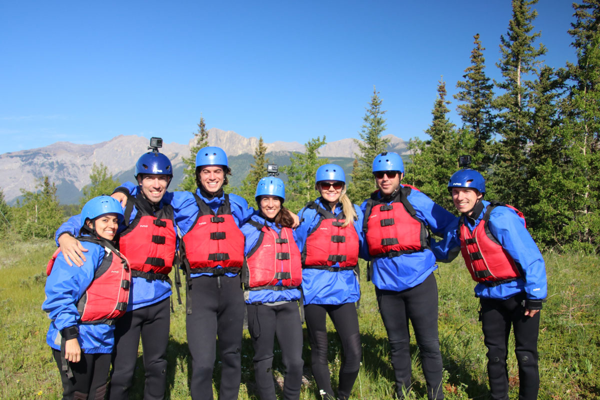 Chinook rafting provided us with every bit of gear we needed to stay warm and safe while rafting. Their helmets even have GoPro mounts! Photo: Chinook Rafting