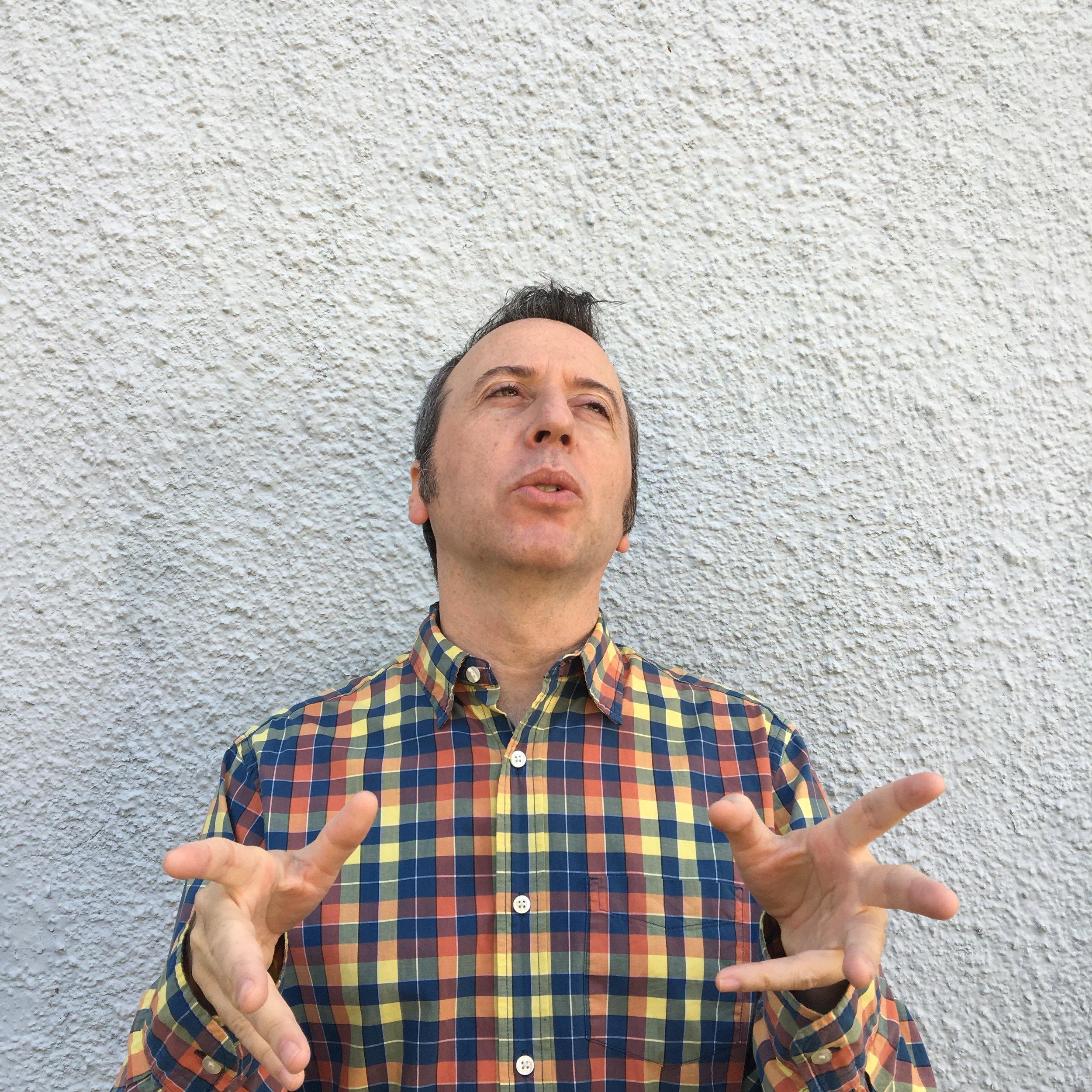 photo of cory talking.