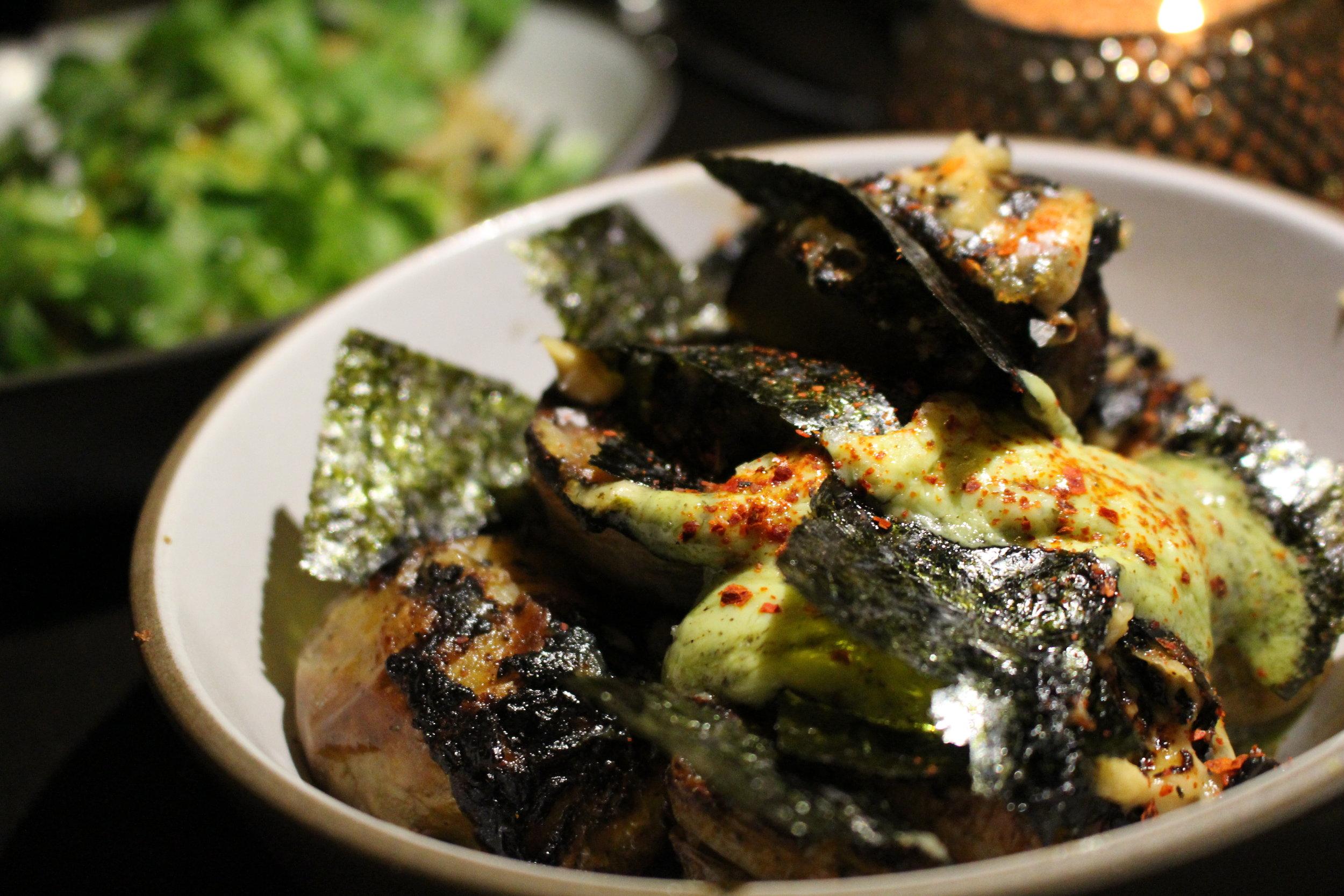 Kombu scented potatoes with arugula seaweed butter (photo: Tamara Palmer)