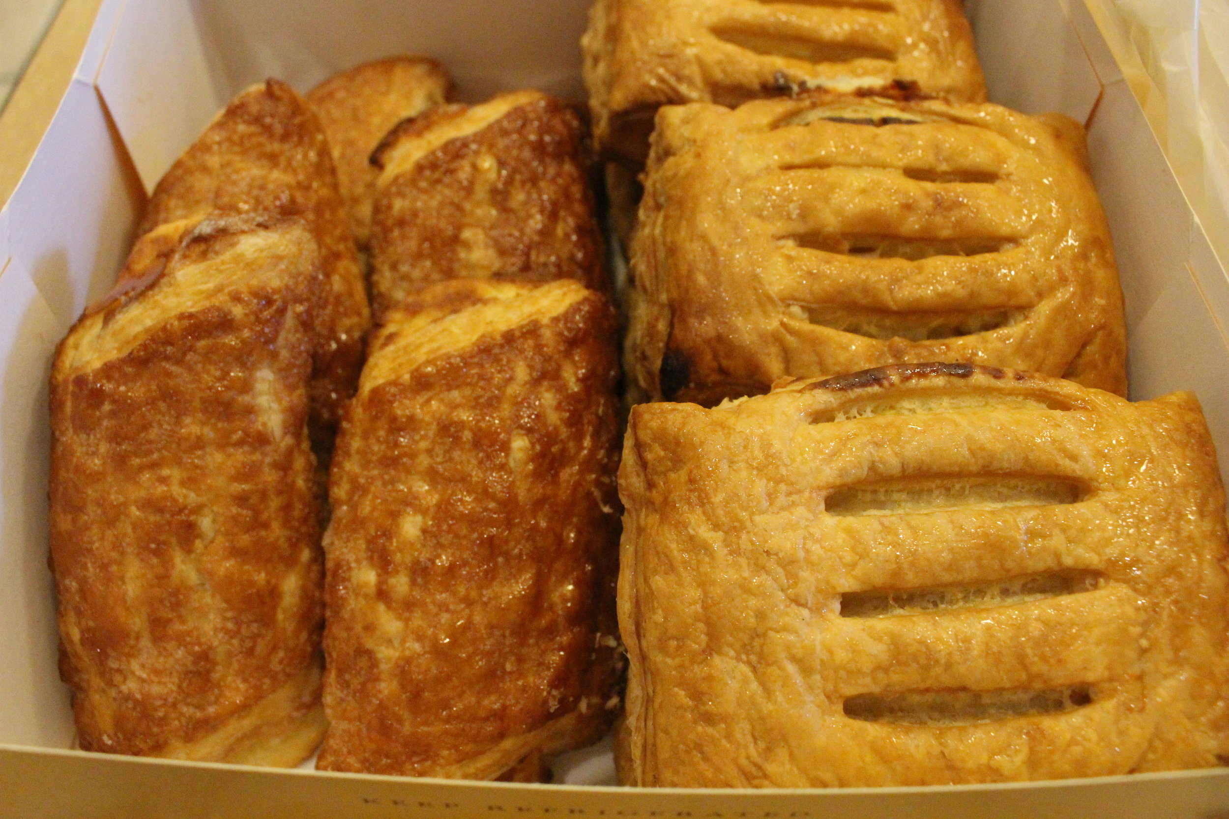 Cheese rolls and guava cheese rolls from Porto's Bakery in Glendale (Tamara Palmer)