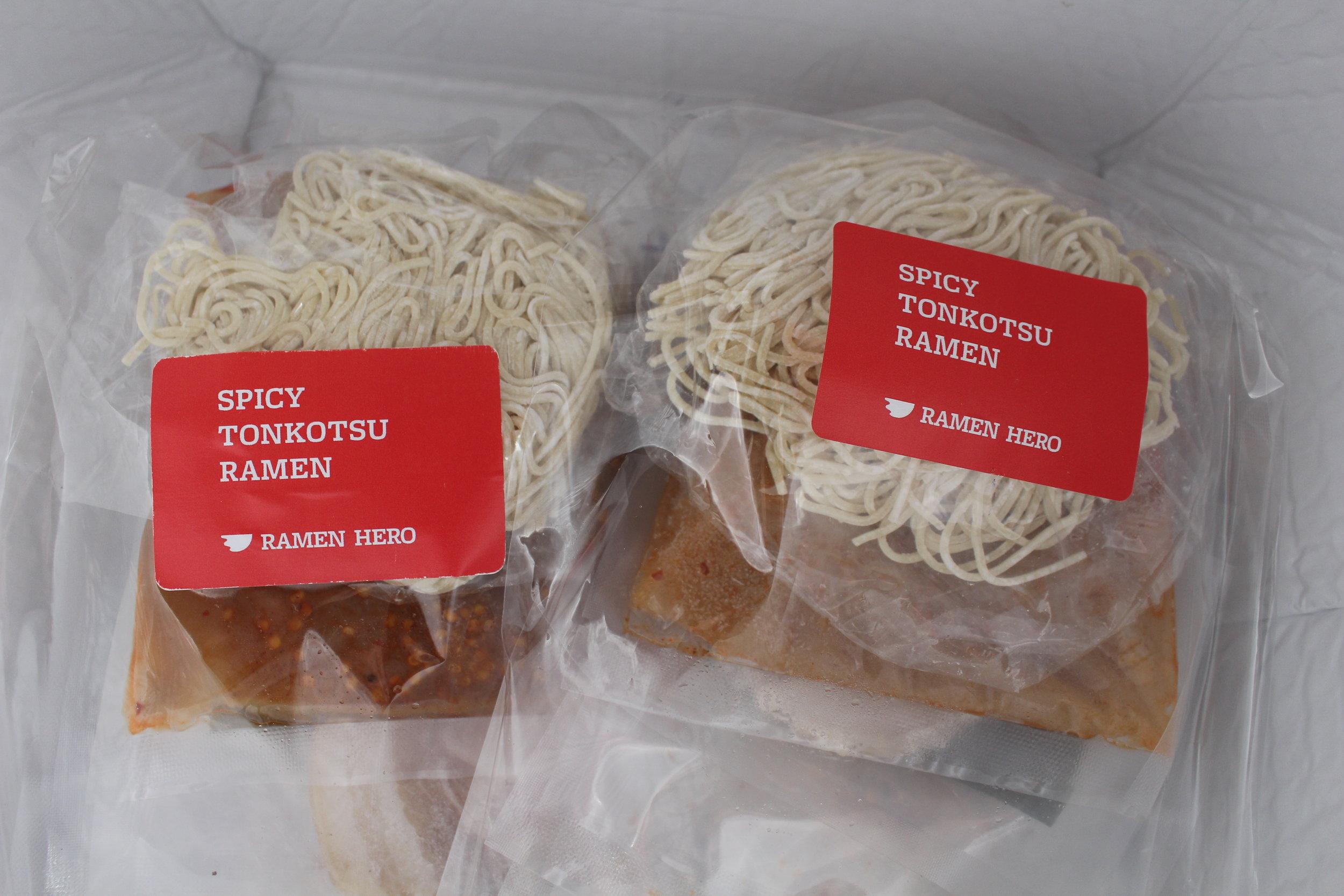 Spicy tonkotsu ramen kits (TP).