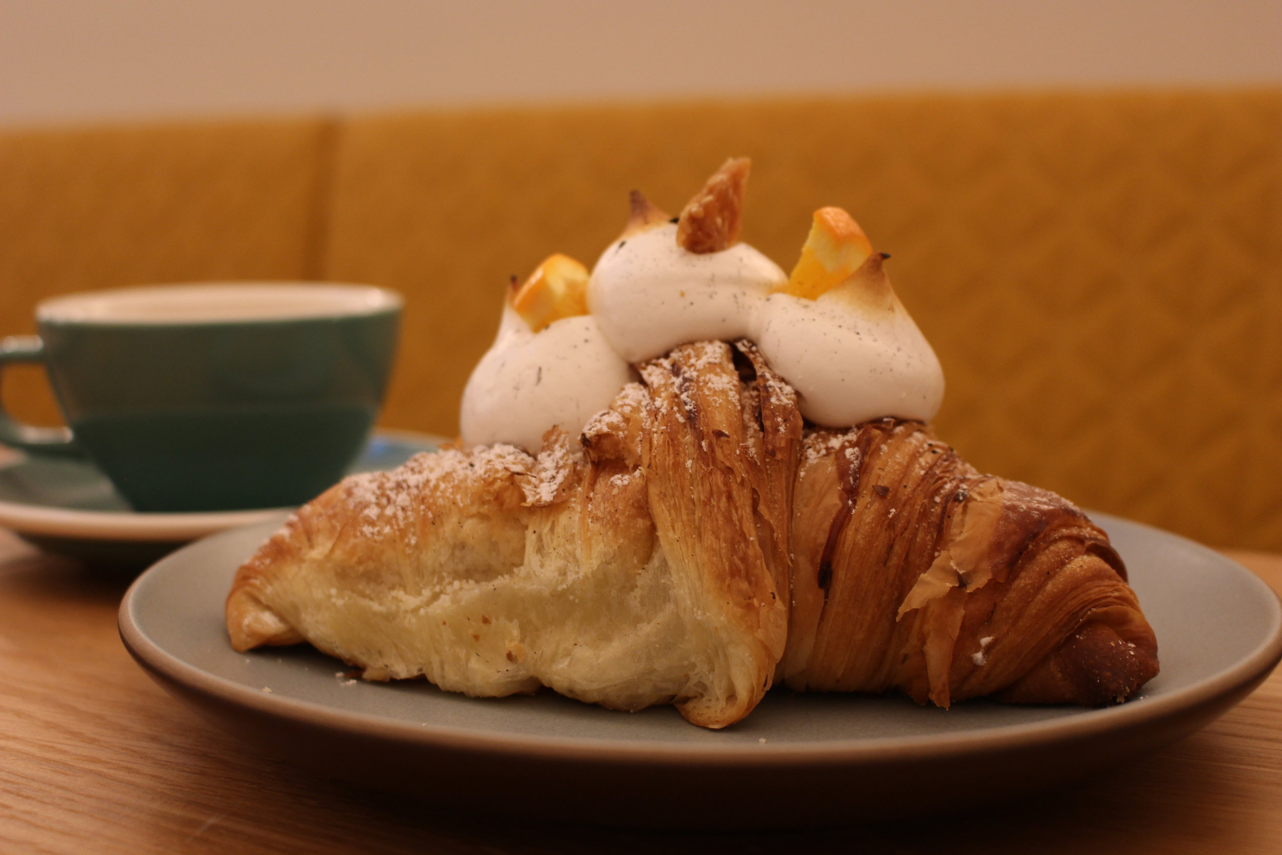Black sesame croissant with yuzu curd and torched meringue (Photo: Tamara Palmer)