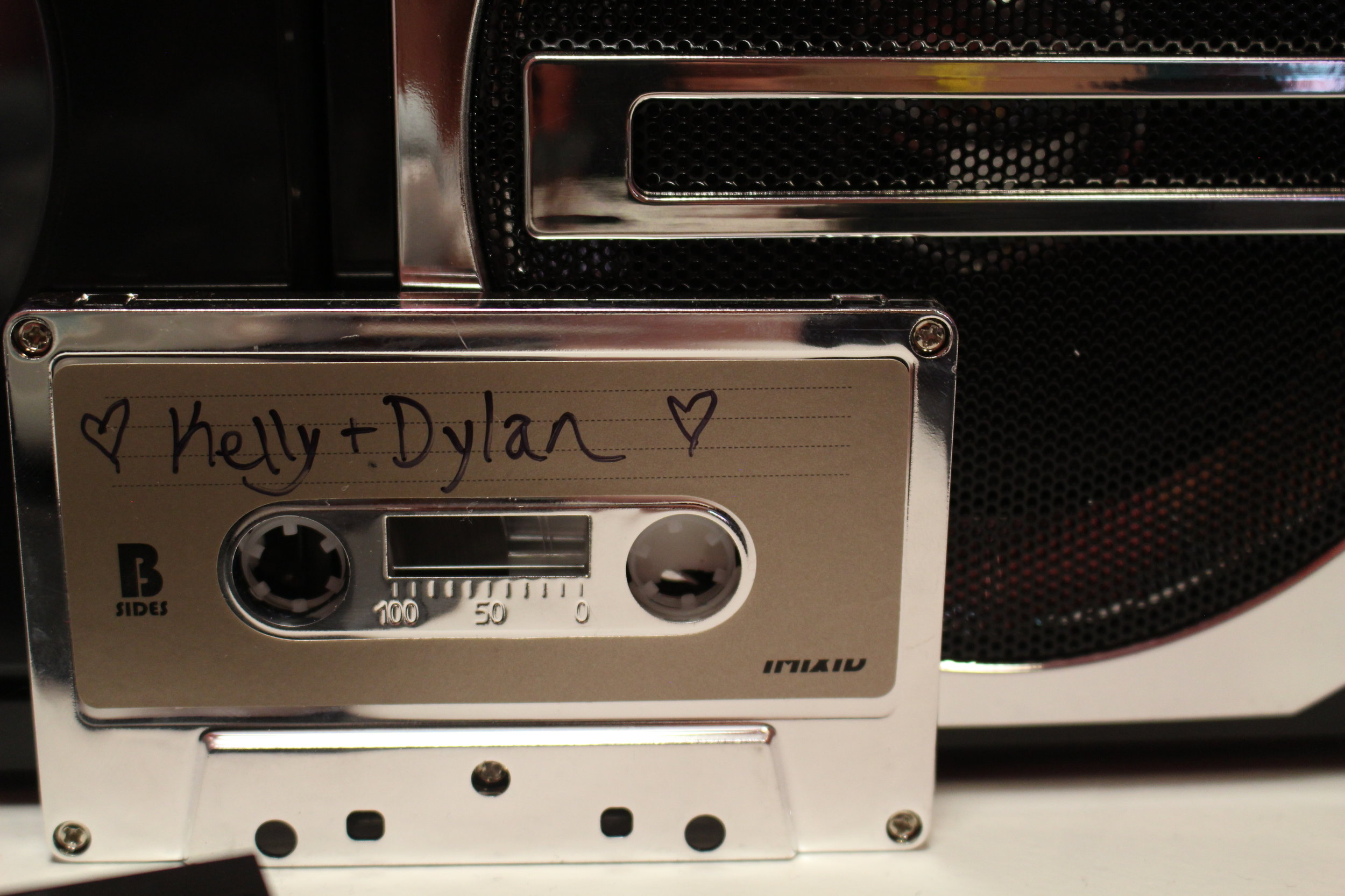 """Most people probably missed some of my favorite details, a series of 90210 mixtapes in the back room by """"Brenda & Brandon's Bathroom."""""""