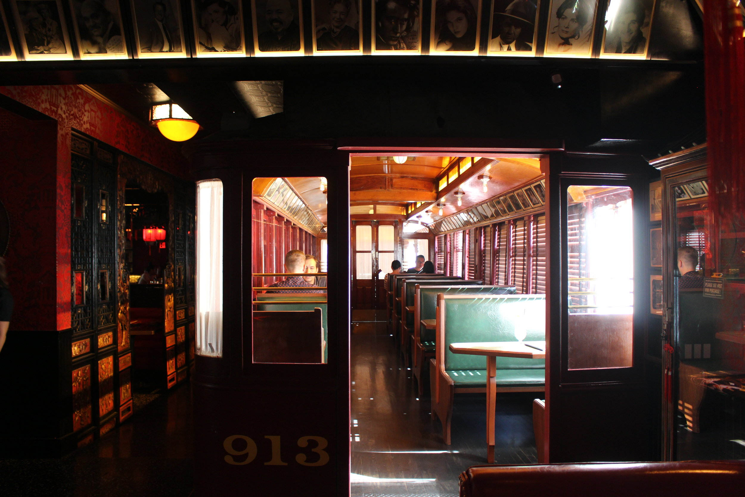The 1904 train car dining room is still amazing