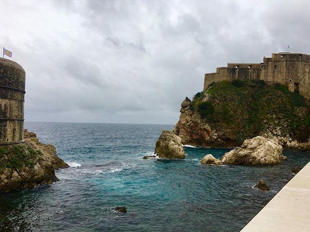 The stormy coast of Dubrovnik, better known as King's Landing. . . #gameofthrones #got #kingslanding #dubrovnik #croatia #castle #travel #explore #remotework #locationindependence #nomad #workonline #bucketlistlife