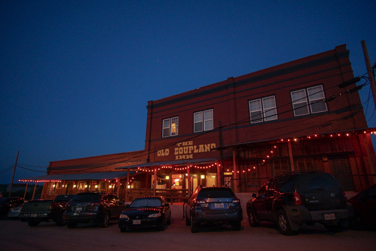 Outside The Old Coupland Inn & Dance Hall in Coupland, Texas, north of Elgin