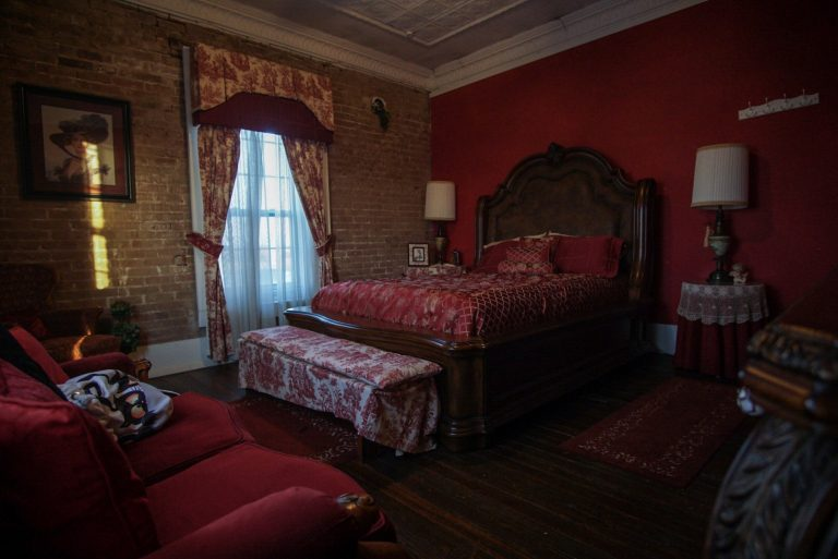 One of seven rooms at Coupland Inn