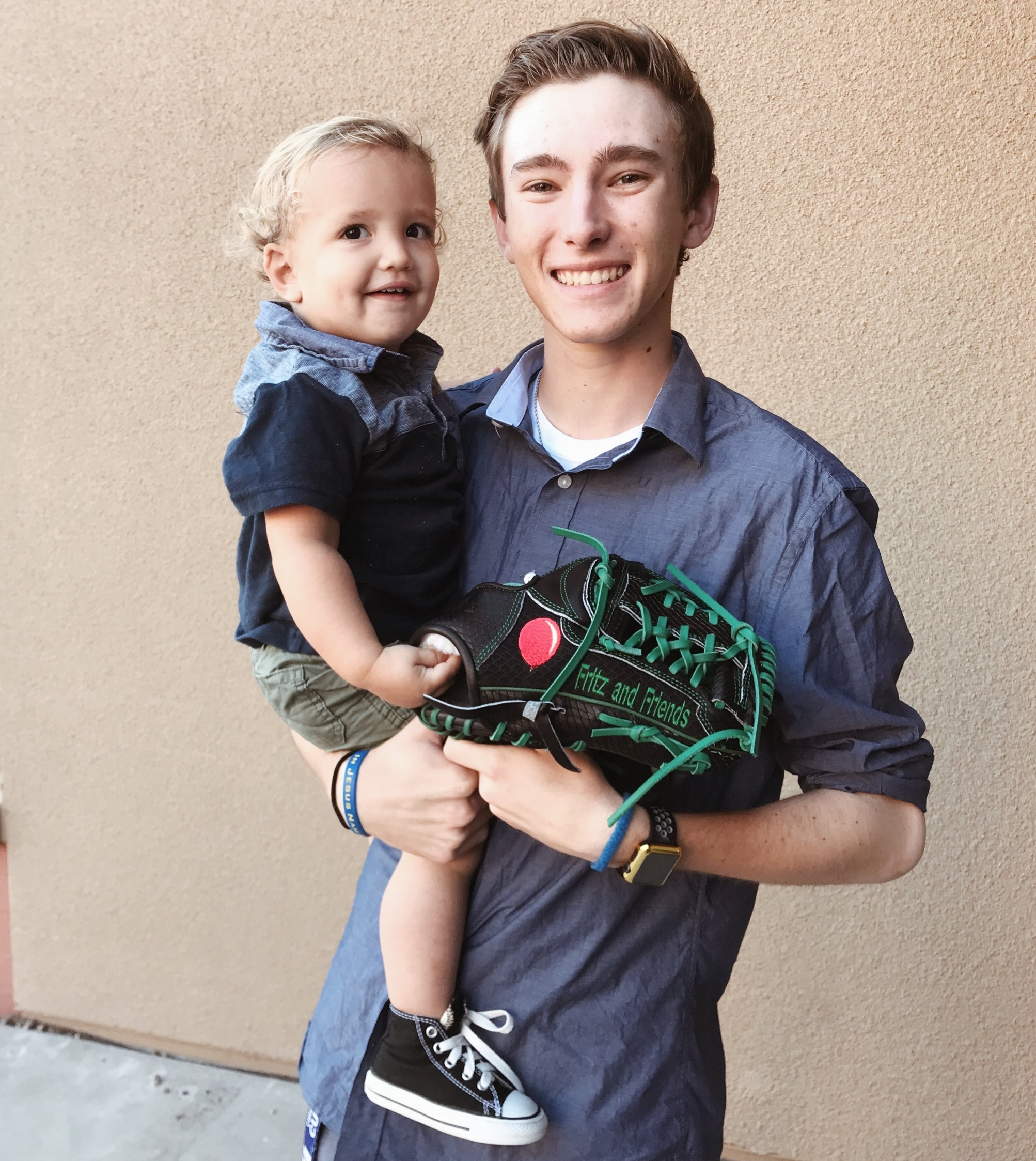 - Cade is a freshman at Providence Christian College in Pasadena, California. Cade will be pitching on the baseball team, and had his glove specially designed to bring awareness and strength to Duchenne Muscular Dystrophy. We couldn't be more honored.