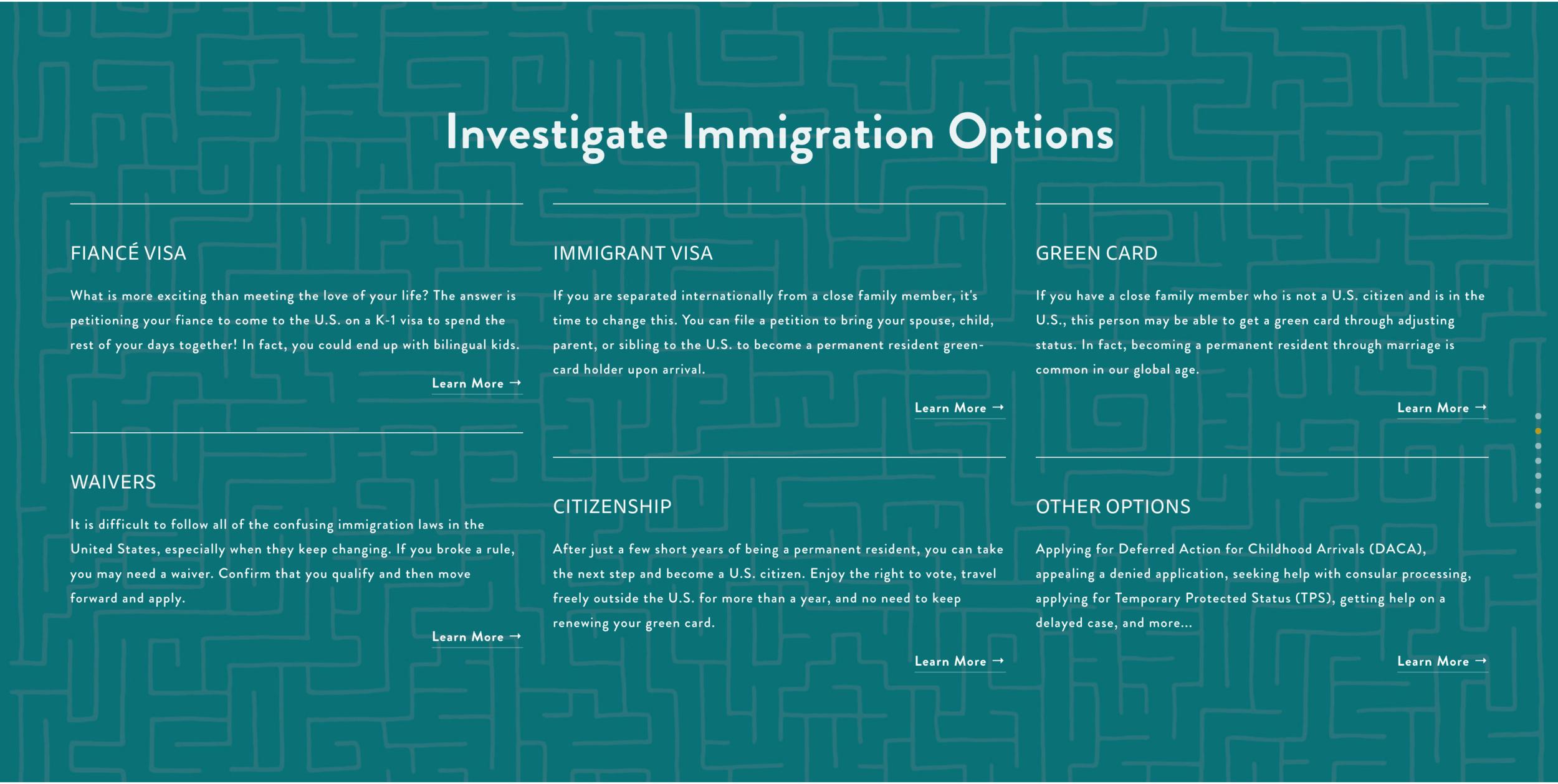 Custom Maze Graphic for Widman Immigration Law Firm - Sarah Moon + Co   sarahmoon.net