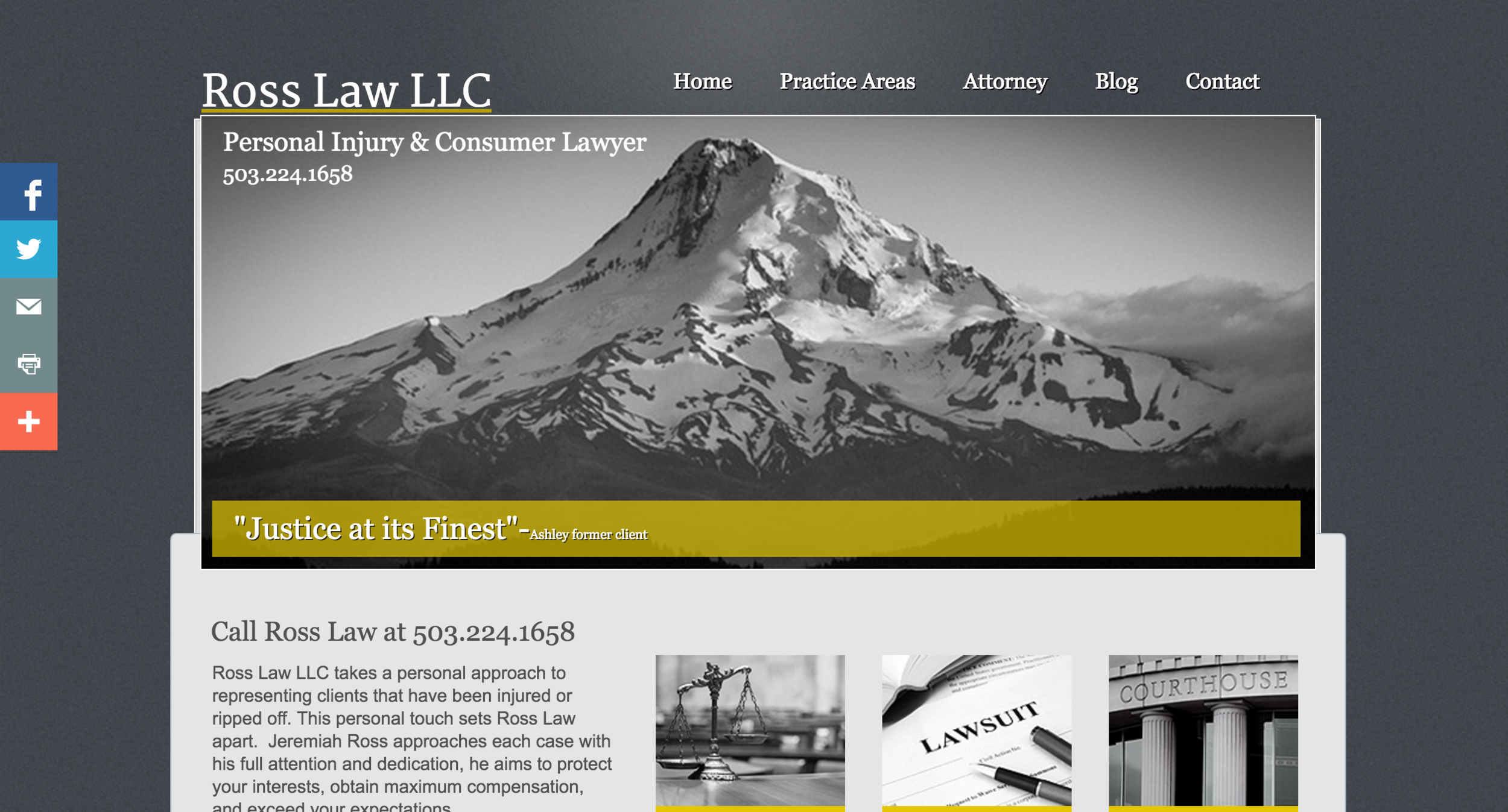 Before: RossLawLLC.com (Yes, we have a new domain name for this one as well!)