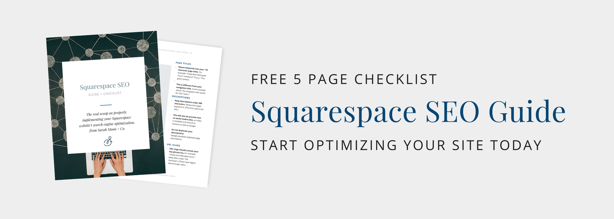 Get your Squarespace SEO guidebook from Sarah Moon + Co!