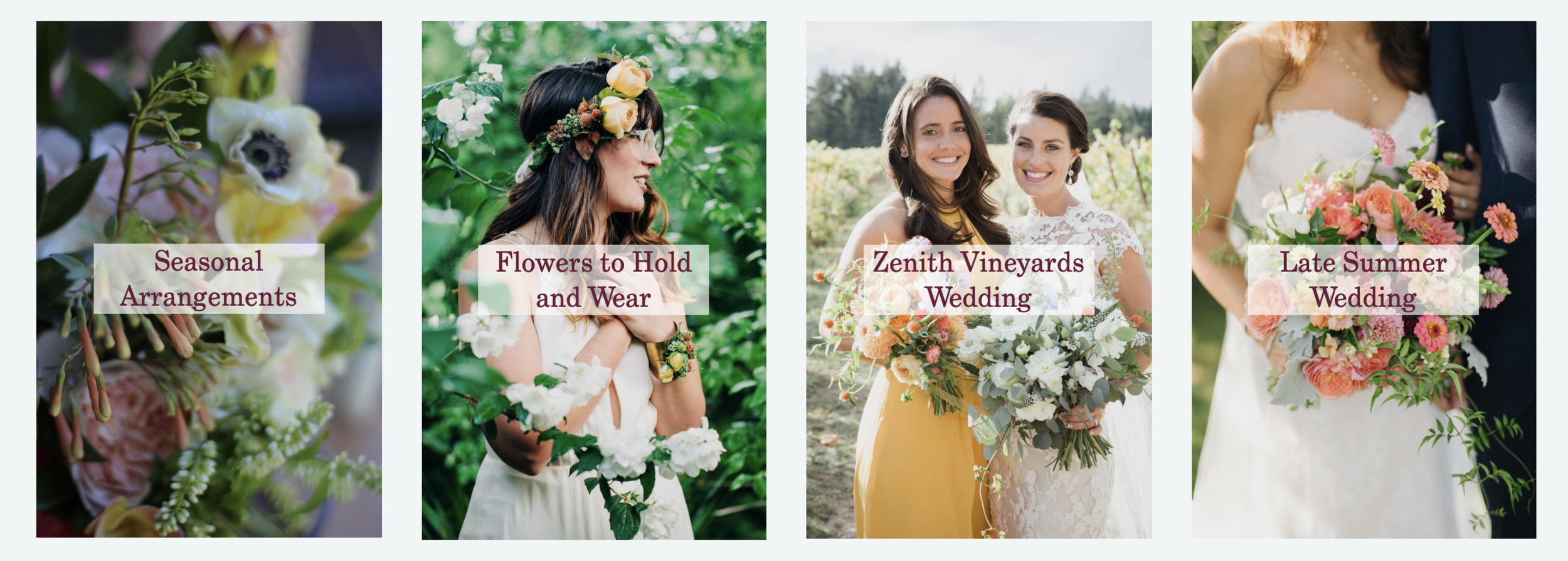 Squarespace Gallery Example - Florist's Website