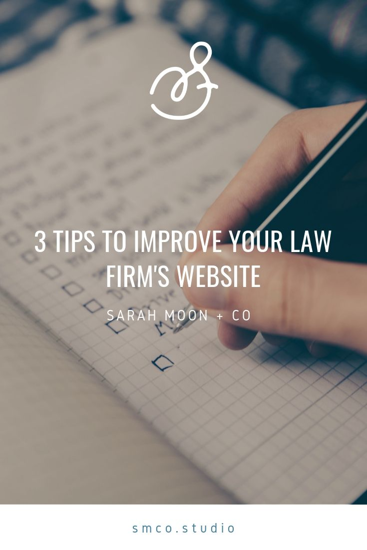 Three easy ways to improve your law firm's website.