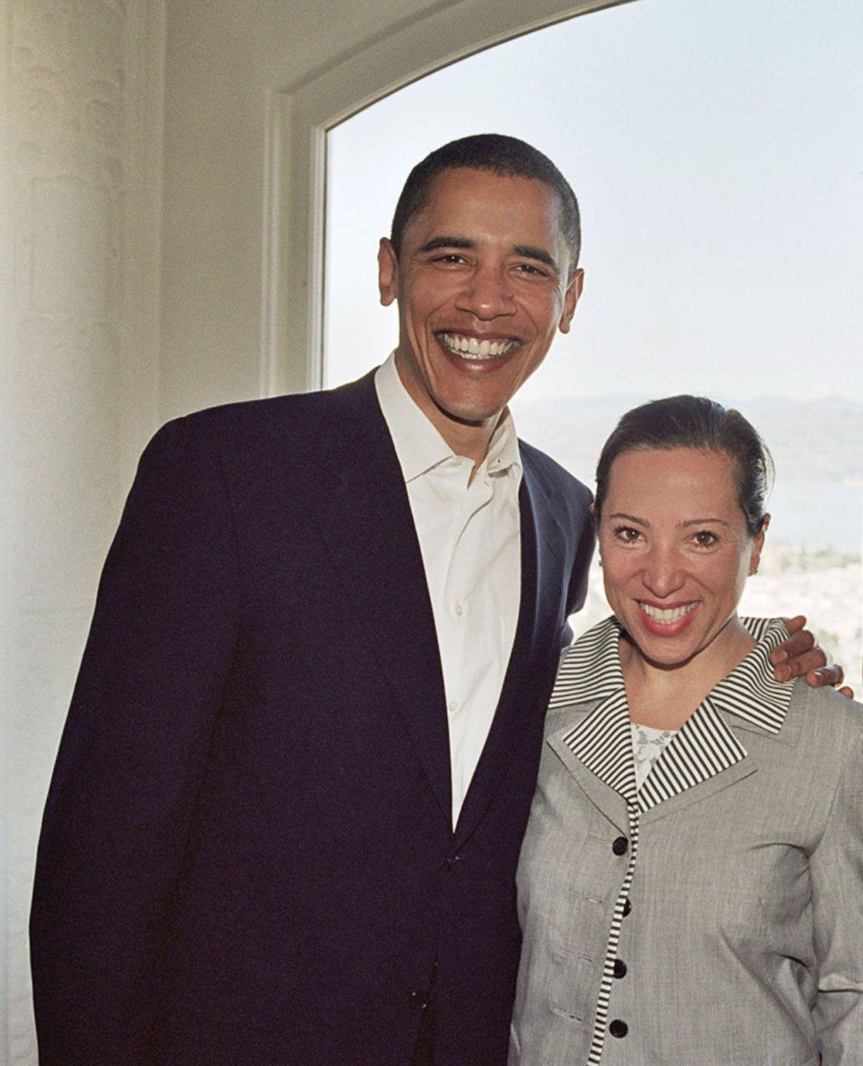 Eleni with President Obama
