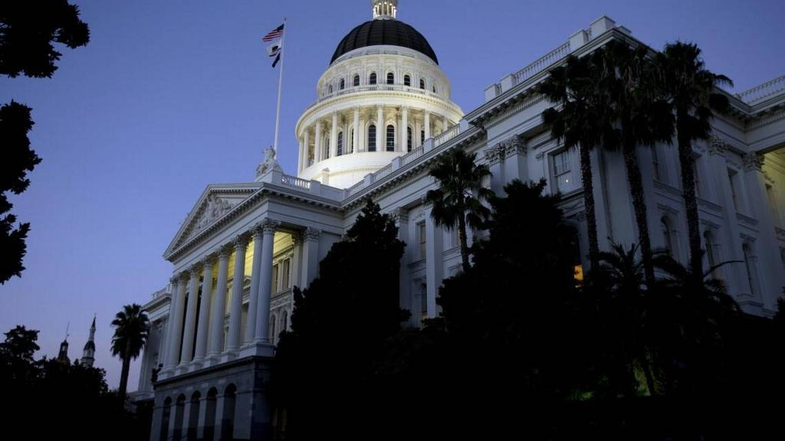 The state Capitol glows in the early evening in Sacramento. Rich Pedroncelli AP file
