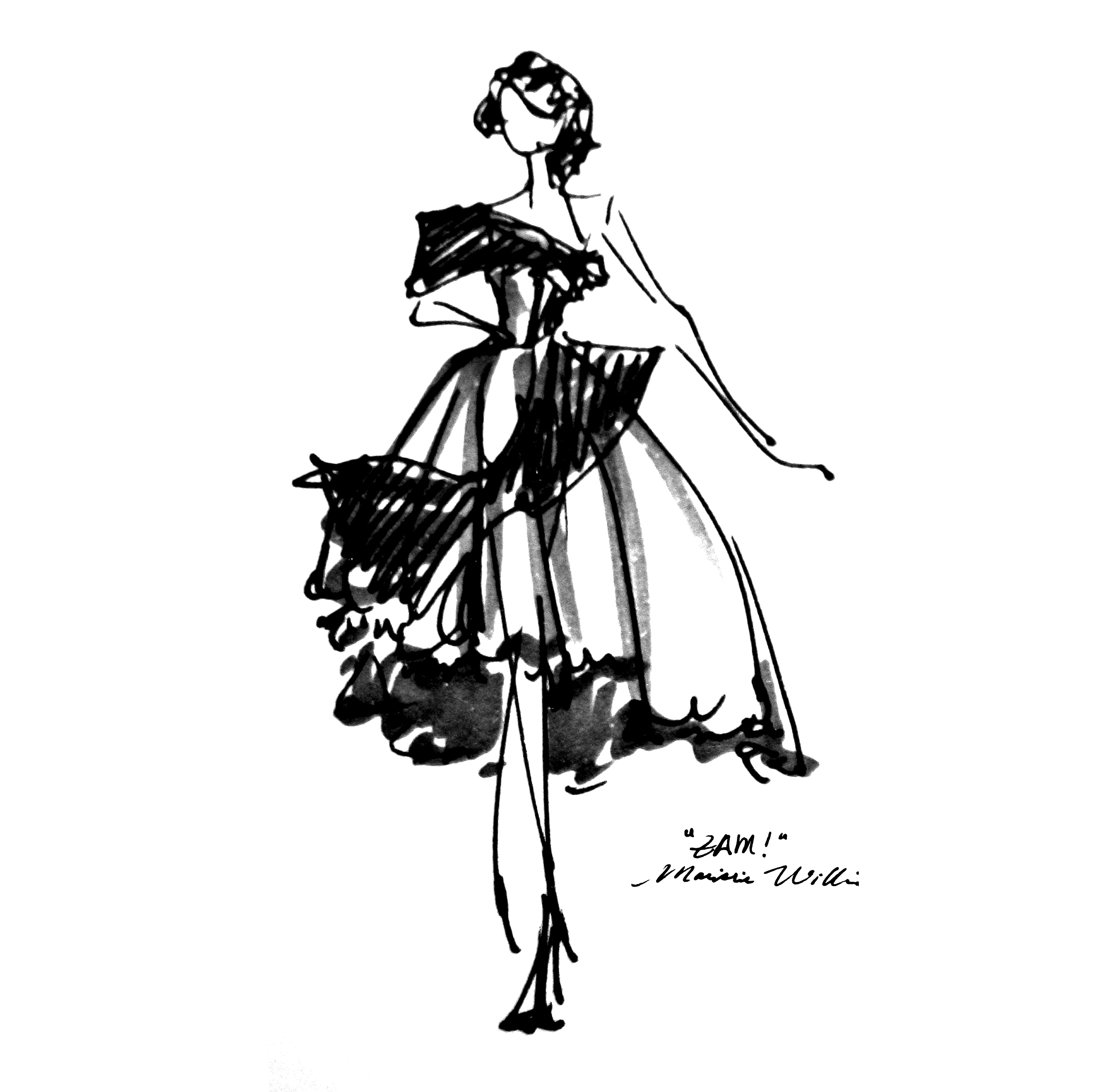 Maisie Williams Zam Dress Comic Books Ryan Jude Novelline Fashion Designer
