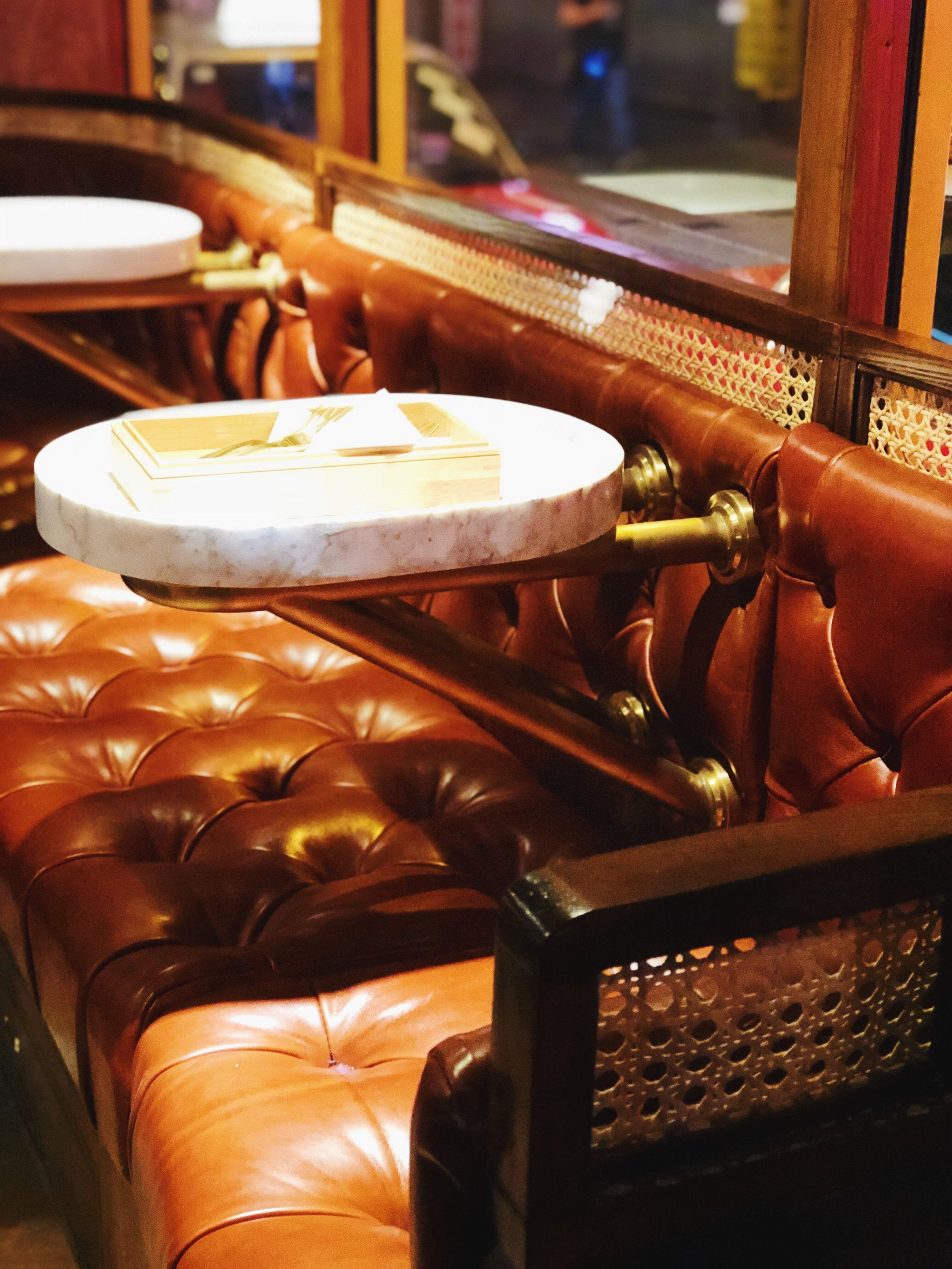 Lower Deck (Chatham House ): Can't resist the leather seats!