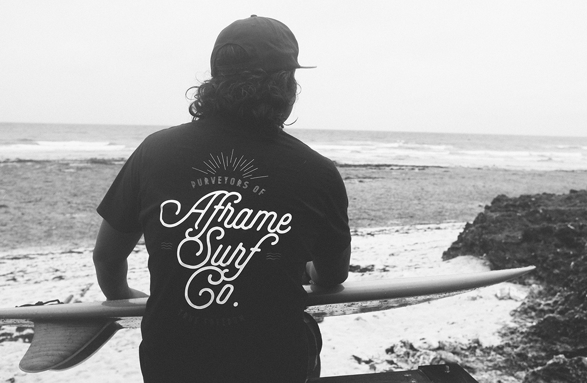 Aframe - Makers of the Philippines finest surfboards, Aframe has also expanded into sungalsses, clothing, and hats, all of which can be found at Fat Lips.