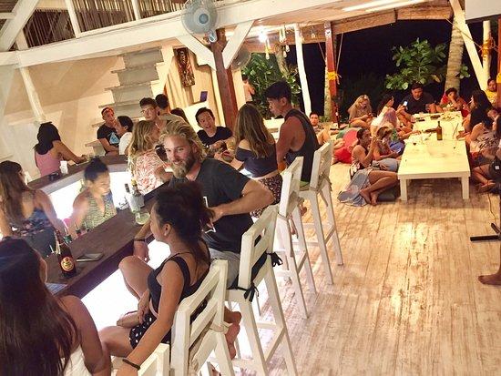 Customers enjoying a busy night at White Banana