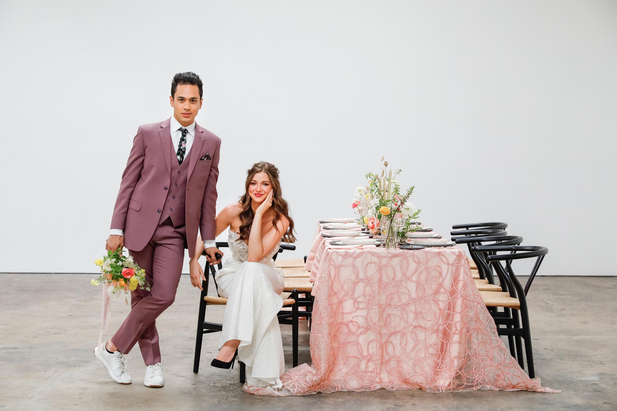Clean and modern wedding