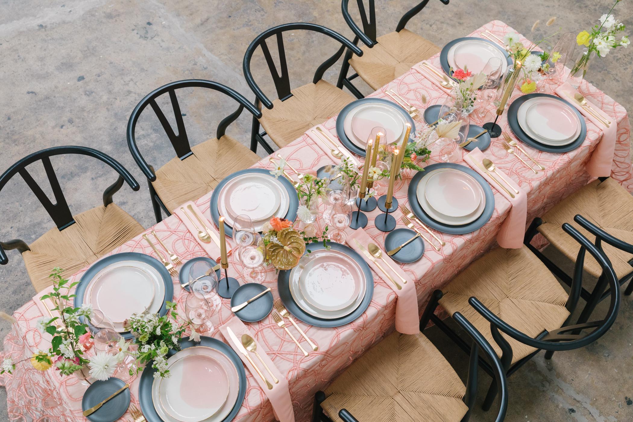 Beautiful wedding table setup