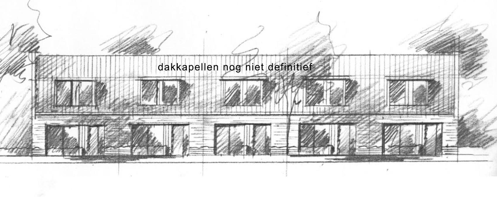 loofwoningen - De loofwoningen (Living On One Floor) hebben op de begane grond een volledig woonprogramma inclusief slaapkamer en badkamer. De schuine kap op de verdieping is voor de evt. extra slaap-/badkamers. De woningen hebben een oppervlakte van ca. 114 m2 GBO.