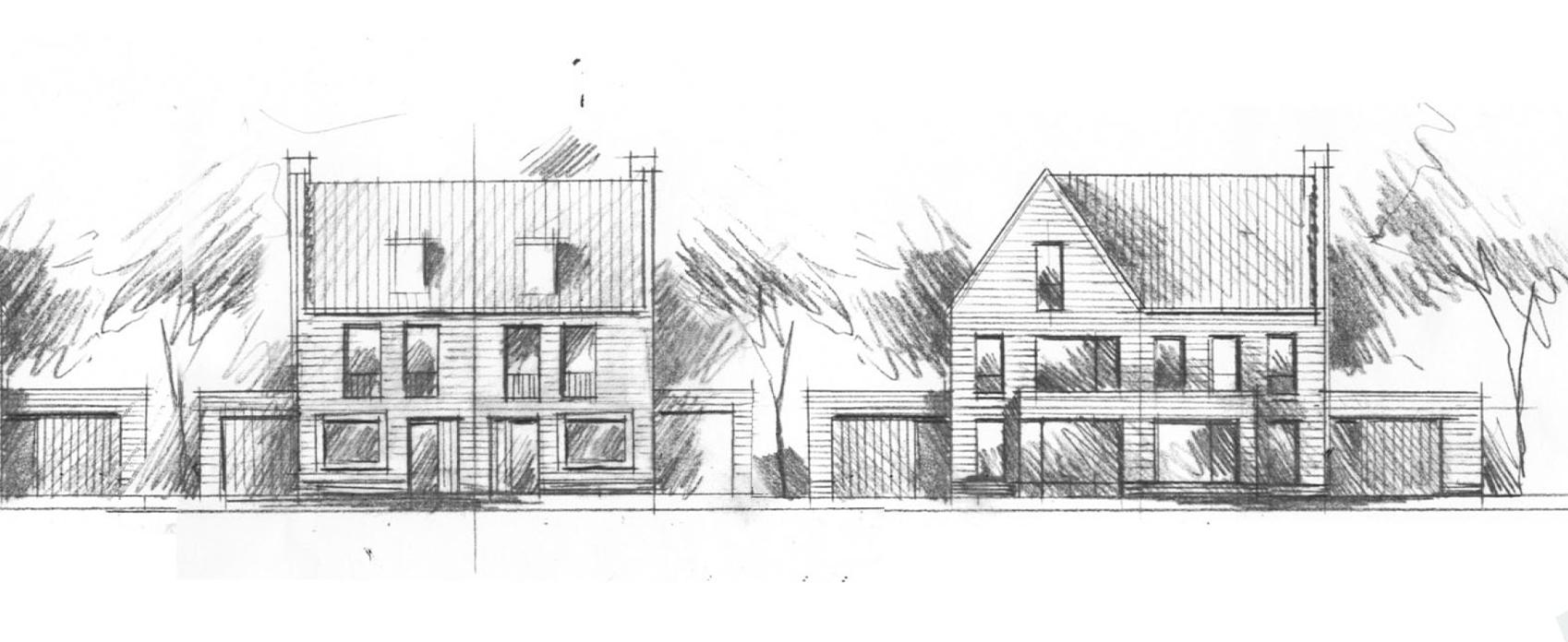 2^1 kapwoningen - De 2^1 kapwoningen bestaan uit 2 verdiepingen en een zolder. De woningen zijn gepositioneerd op mooie kavels met een eigen garage en oprit. Er zijn in basis 2 typen 2^1 kappers, de kleinere en de grotere. De woningen hebben een oppervlakte van ca. 125m2 en ca. 153 m2 GBO.