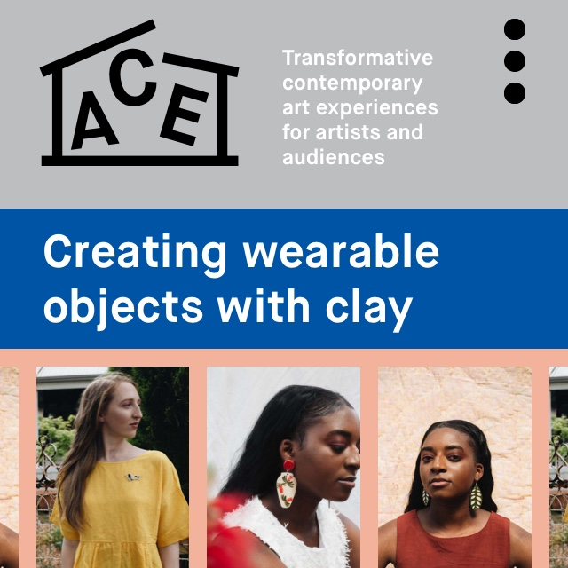 Creating wearable objects with clay - Workshop at ACE Open, 20 July 2019, 12 pm to 4 pm