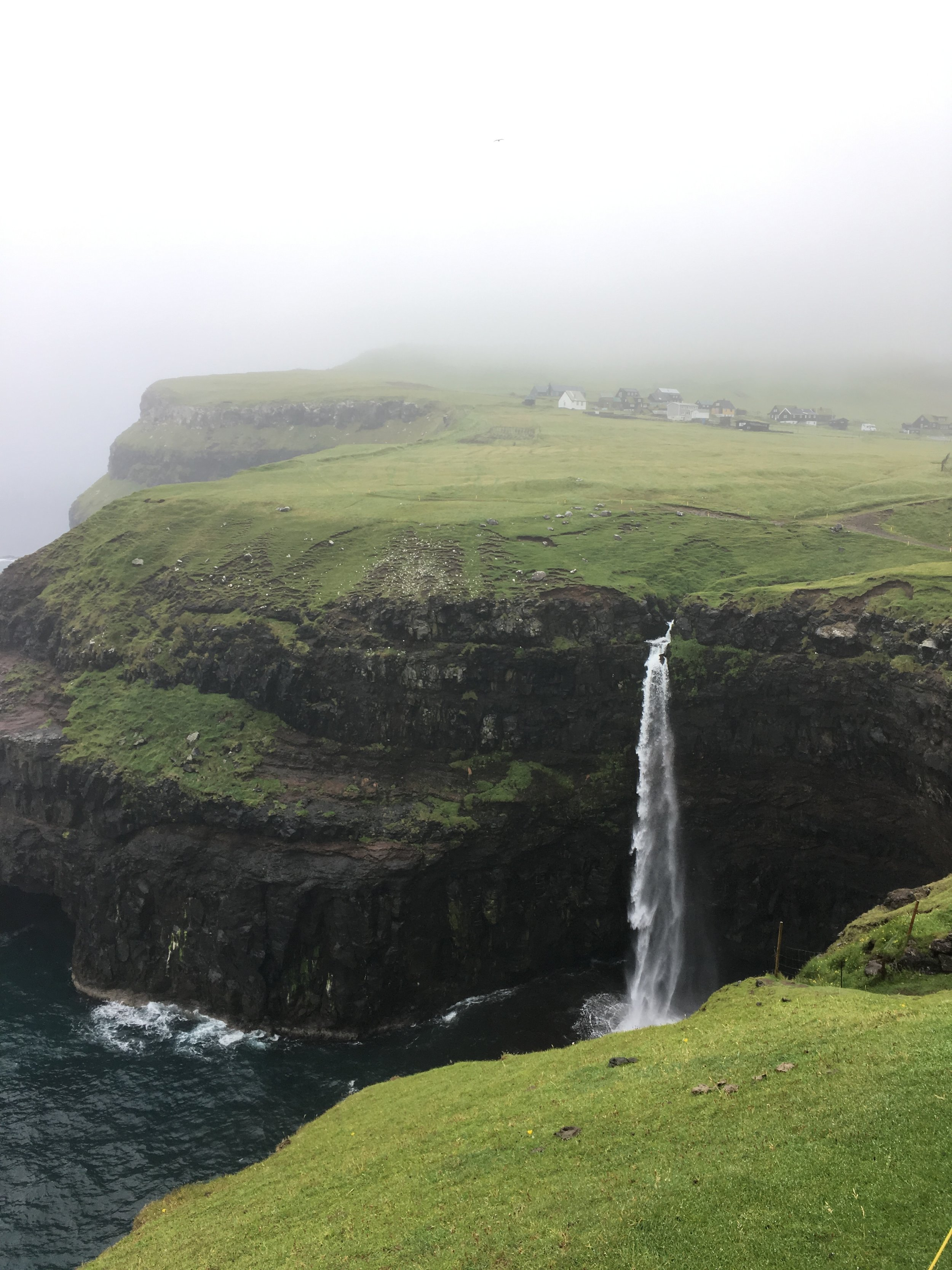 We pestered our bus driver to take us to see the  Mulafossur Waterfall  on the island of Vagar, so on our last day on route to the airport in extreme cold and fog we visited and wow it did not disappoint! If you're looking for a holiday with a difference, love walking, knitting and exploring – the Faroe Islands will not disapoint!