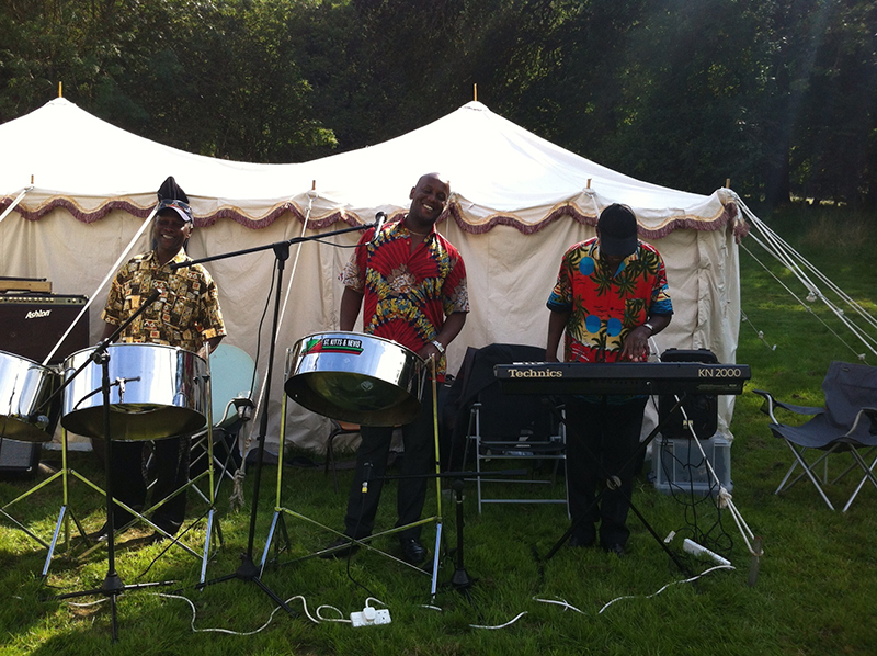 Partyfield Dorset party in a field music steel drums.JPG