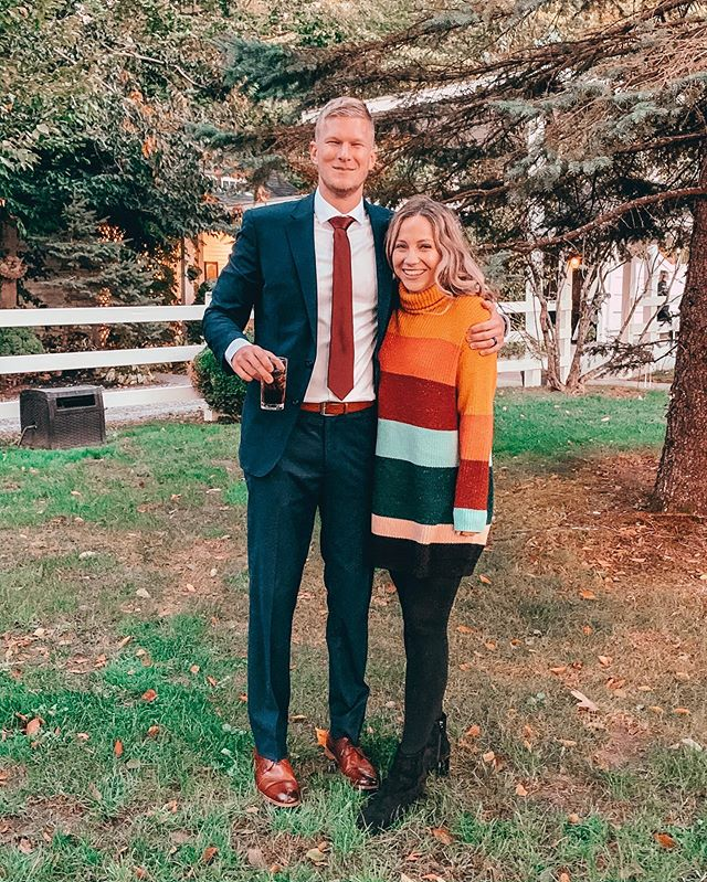 Ok Florida I'm ready for you to cool down so I can be cozy in my sweaters and drink apple cider without passing out.  Thank you for your consideration, Madalyn 💖 . . . . . . #fallfashion #weddingseason #sweaterdress #aesthetic #autumn #fallwedding #hallmarkmovie #cute #coupletravel #weddingdate #husbandandwife #love #mylove #loveisintheair #happytimes #travelblogger #anthropologie #rainbowstyle #anklebooties #americanstyle