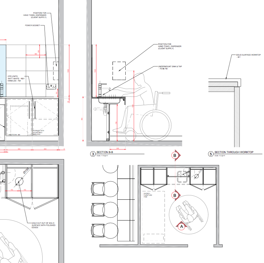Stage 3 - Technical DesignOnce the final design concept has been agreed we will produce a technical drawing package to translate the detail design. This will be used by the chosen contractor to allow full cost specifications to be produced.