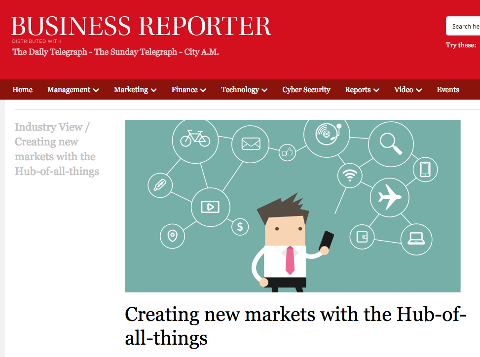 Creating new markets with the Hub-of-all-things -